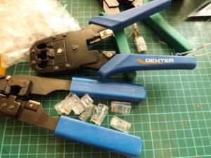 Инструменты для работы с кабелем UTP